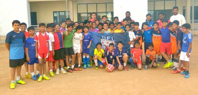 Football training to Jain Heritage School students
