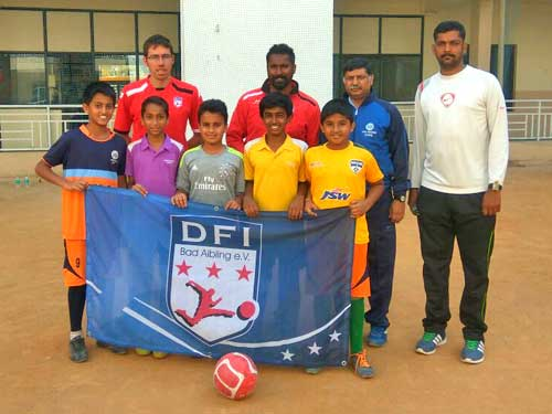 Jain Heritage School kids at Football training
