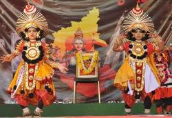 Kannada Rajyotsava celebration in Jain Heritage School