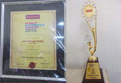 Top 20 CBSE School award for JHS